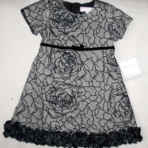 Trish Scully Child Girl's Rose Dress SZ 6 NWT